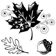 Набор штампов осенние листья