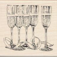 Штамп резиновый бокалы с шампанским