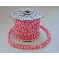 Лента шарики светло-розовые