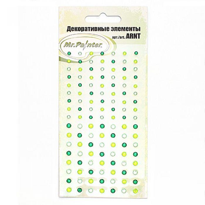 Стразы самоклеющиеся Оттенки зелёного  для скрапбукинга