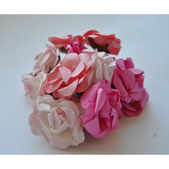 Розы розовая смесь для скрапбукинга