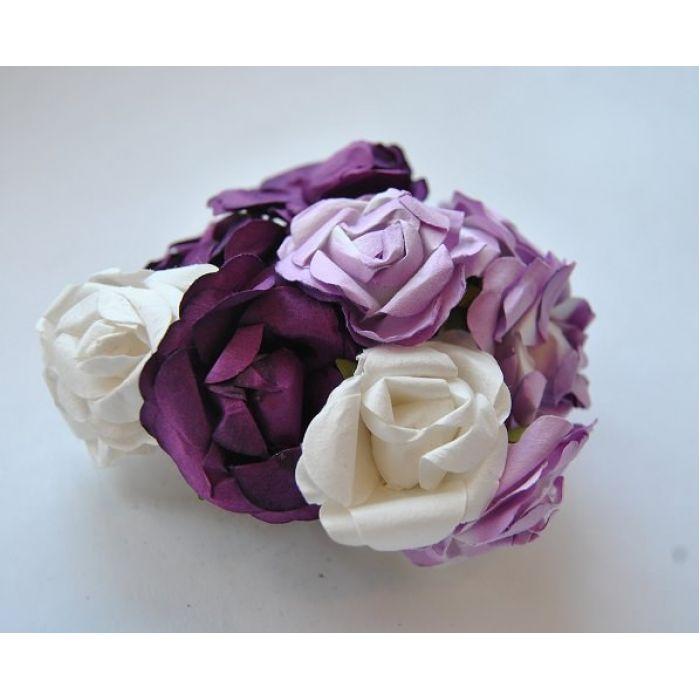 Розы лиловая смесь для скрапбукинга