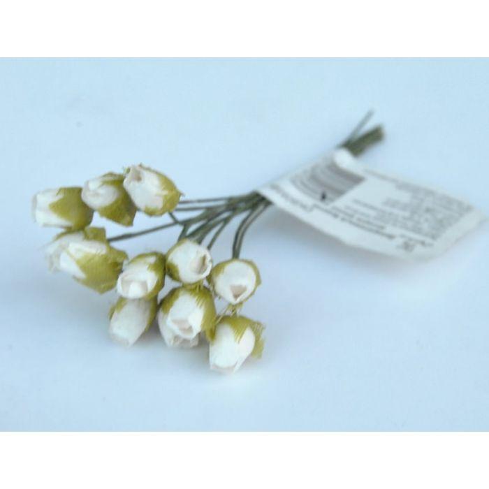 Белые бутоны роз мелкие для скрапбукинга