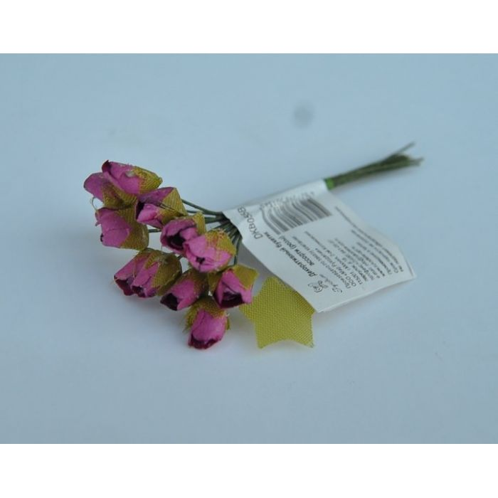Бутоны роз цвета фуксии мелкие для скрапбукинга