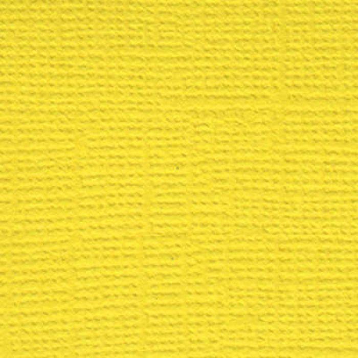 Кардсток текстурированный Весенний одуванчик (жёлтый) для скрапбукинга