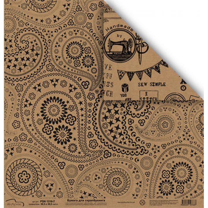 Бумага 1310-7, коллекция Крафт для скрапбукинга