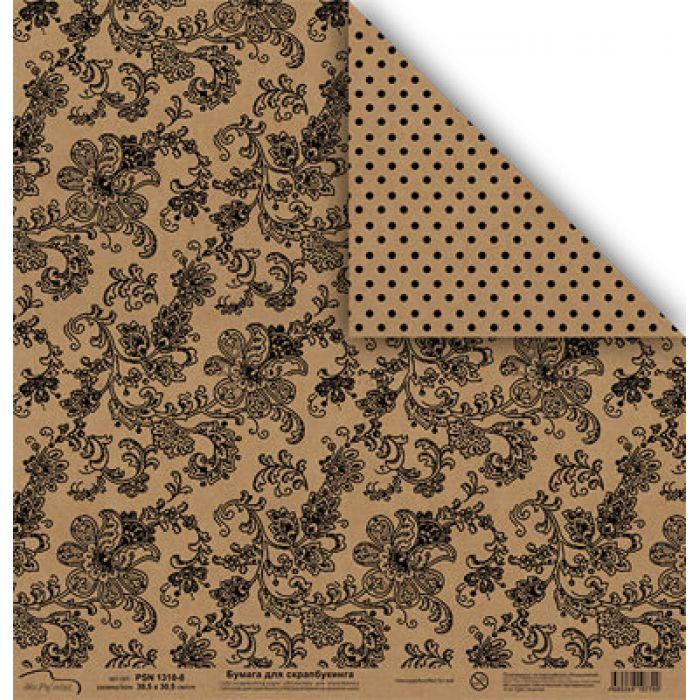 Бумага 1310-8, коллекция Крафт для скрапбукинга