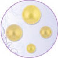 Полужемчуг самоклеющийся светло желтый