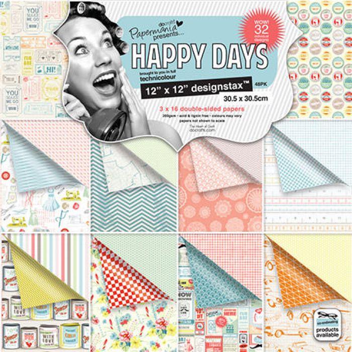 Набор бумаги Happy Days для скрапбукинга