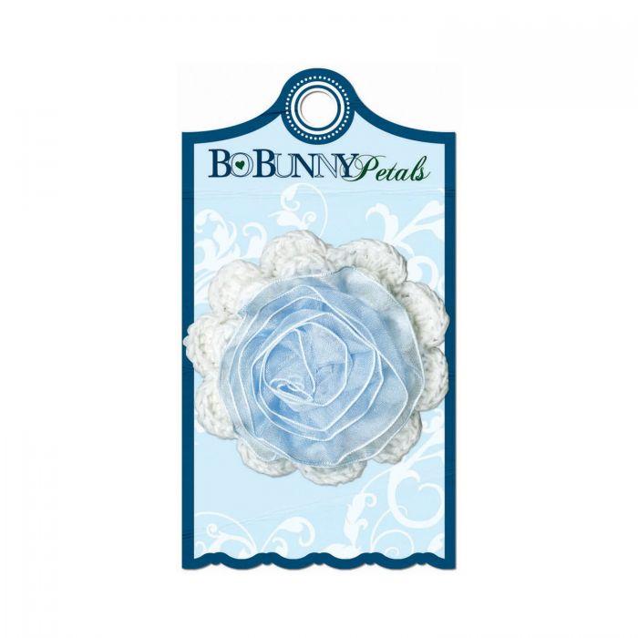 Цветок из ткани, коллекция Midnight Frost для скрапбукинга