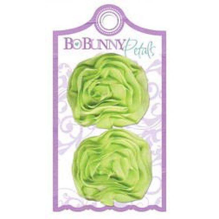 Цветок из ткани Green Scrunch, коллекция Winter Joy для скрапбукинга