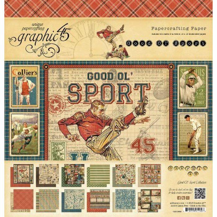 Набор бумаги Good Ol' Sport, 30 х 30 см для скрапбукинга
