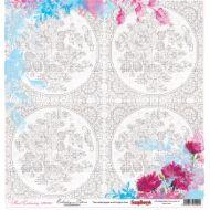Бумага Схема для вышивания, коллекция Цветочная вышивка