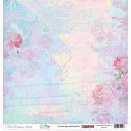 Бумага Меланж, коллекция Цветочная вышивка