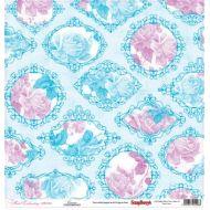 Бумага Канва, коллекция Цветочная вышивка