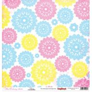 Бумага Ажурная вышивка, коллекция Цветочная вышивка