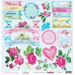 Бумага Мережка, коллекция Цветочная вышивка