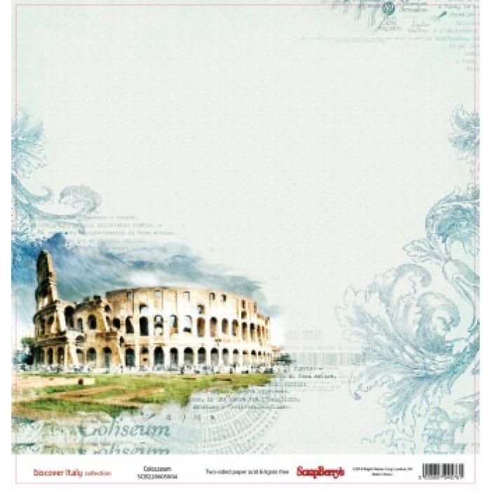 Бумага Колизей, коллекция Итальянские каникулы для скрапбукинга
