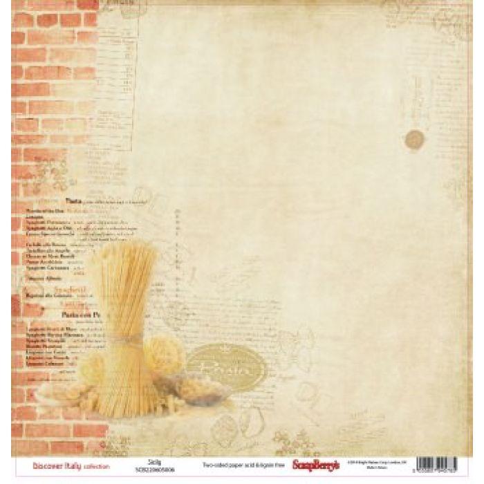 Бумага Сицилия, коллекция Итальянские каникулы для скрапбукинга