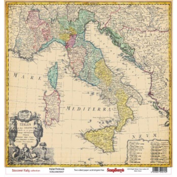 Бумага Италия, коллекция Итальянские каникулы для скрапбукинга