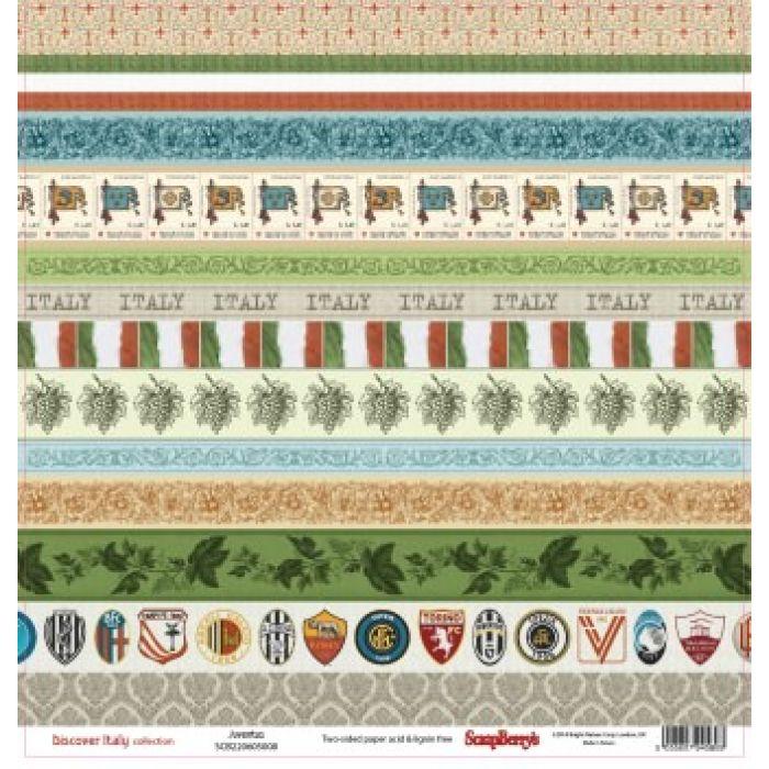 Бумага Ювентус, коллекция Итальянские каникулы для скрапбукинга