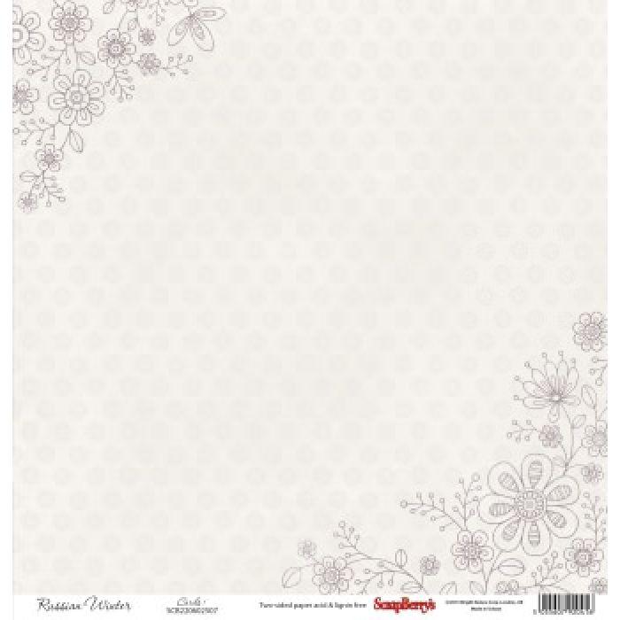 Бумага Тишина, коллекция Летняя Радость для скрапбукинга