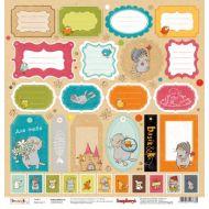 Бумага Карточки 3, коллекция Басик