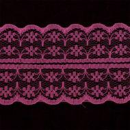 Кружево-трикотаж розовое 40 мм