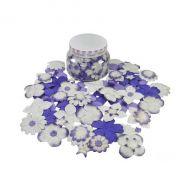 Набор цветов в банке, фиолетово-сливовый