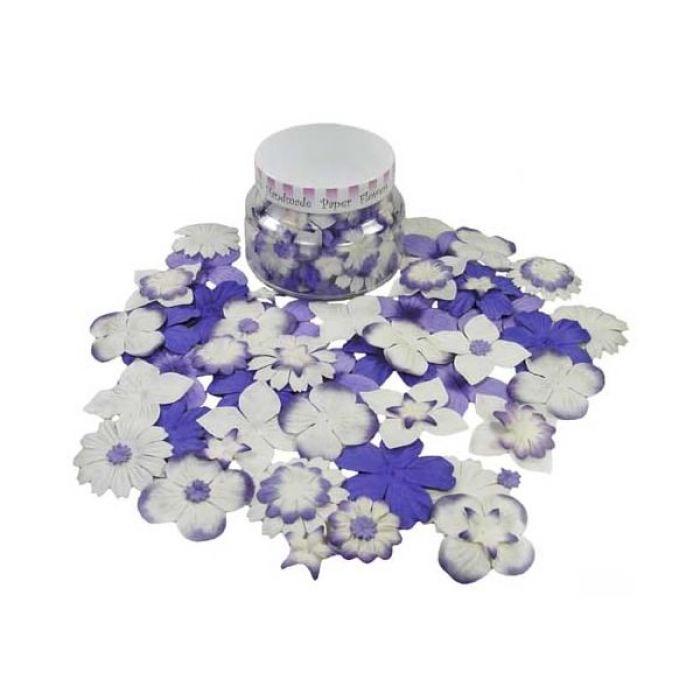 Набор цветов в банке, фиолетово-сливовый для скрапбукинга