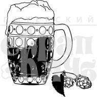 """Штамп силиконовый """"Чехия. Пиво и хмель"""""""