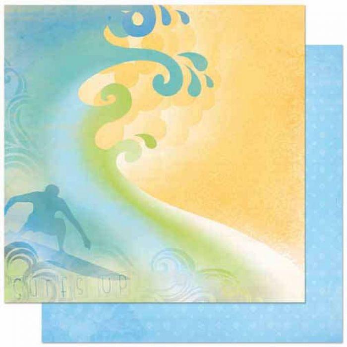Бумага Surf, коллекция Barefoot для скрапбукинга