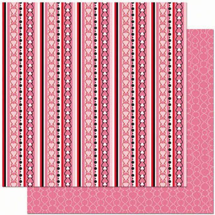 Бумага Stripe, коллекция Crush для скрапбукинга