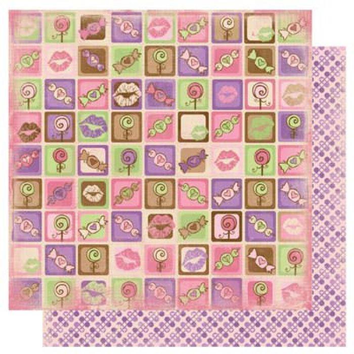 Бумага Eye Candy, коллекция Smoochable для скрапбукинга