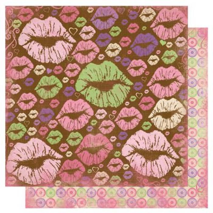 Бумага Hot Lips, коллекция Smoochable для скрапбукинга