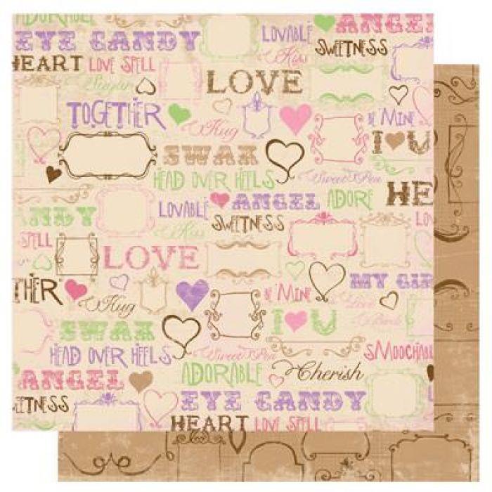 Бумага Love Spell, коллекция Smoochable для скрапбукинга