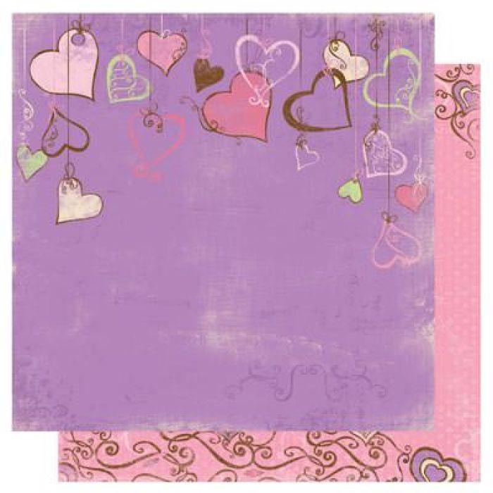 Бумага Heartstrings, коллекция Smoochable для скрапбукинга