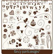 Набор силиконовых штампов Doodles and Things