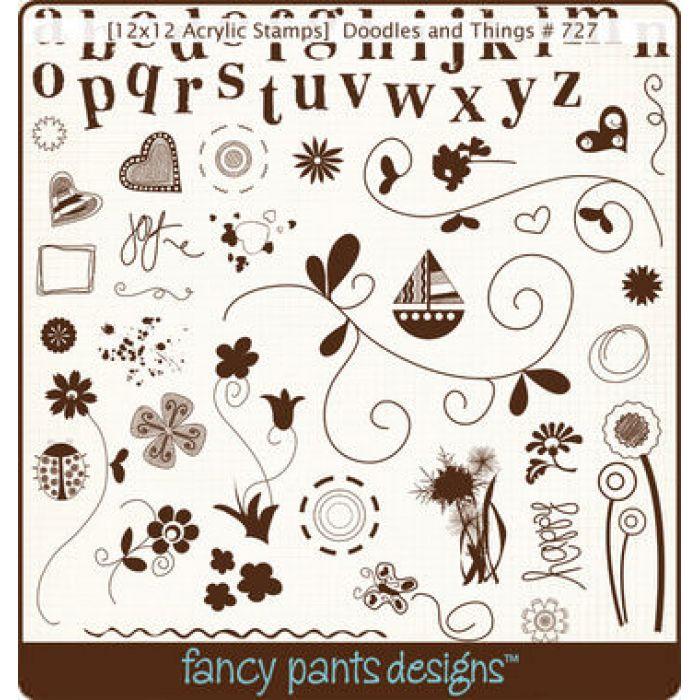 Набор силиконовых штампов Doodles and Things  для скрапбукинга