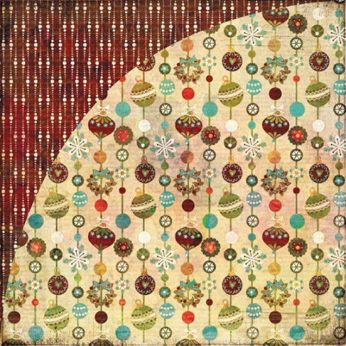 Бумага Christmas Tree, коллекция Jovial  для скрапбукинга
