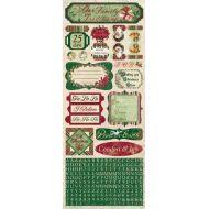 Наклейки Comfort and Joy, коллекция Father Christmas