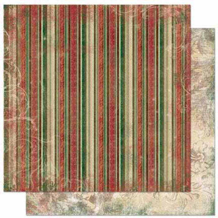 Бумага Stripe, коллекция Father Christmas для скрапбукинга