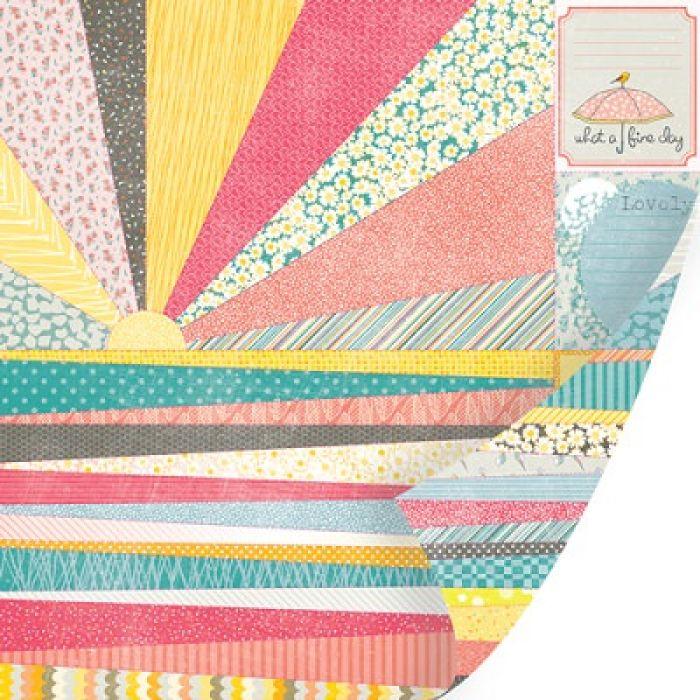 Перфорированный лист Rays of Sunshine, коллекция Vanilla Sunshine для скрапбукинга