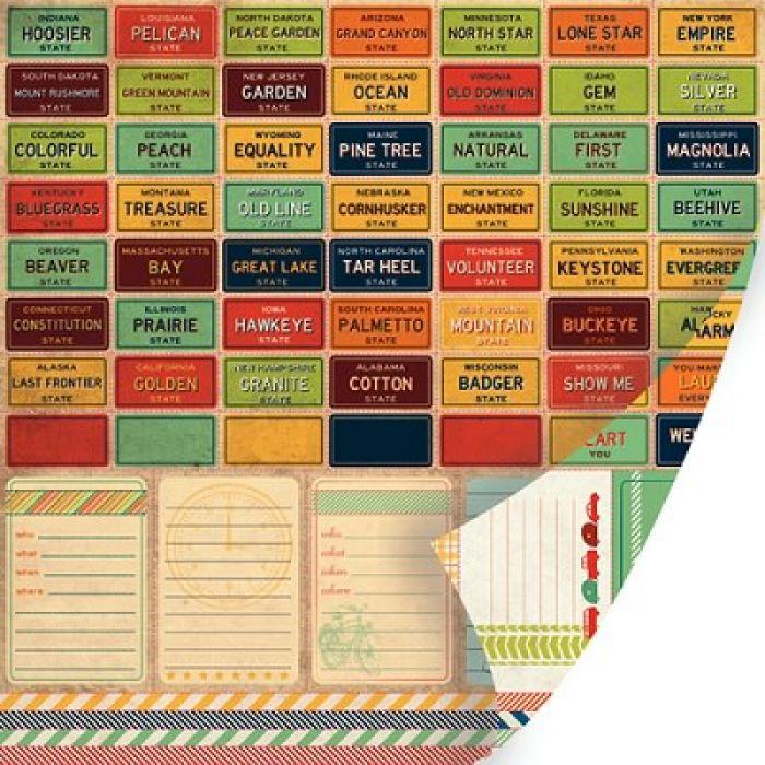 Перфорированный лист Interstate, коллекция Mayberry для скрапбукинга