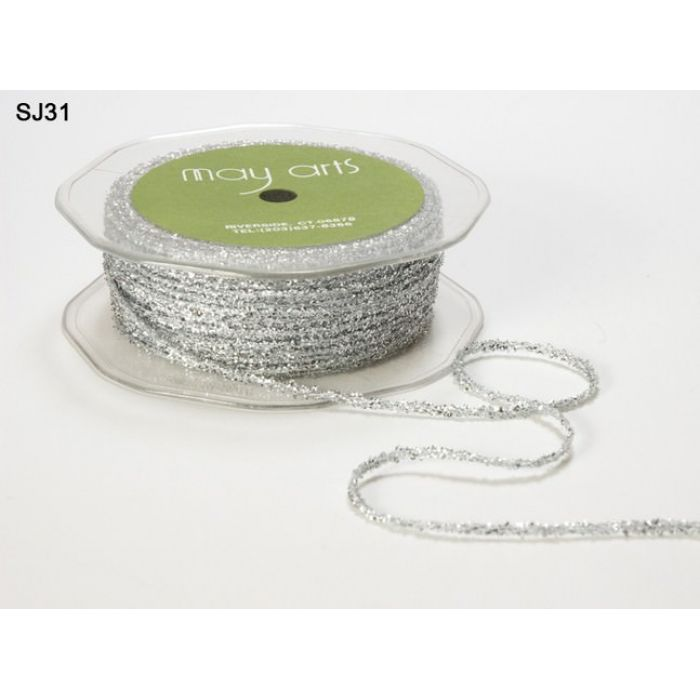 Шнур серебряный для скрапбукинга