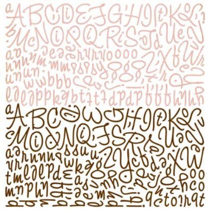 Наклейки Алфавит, коллекция Nook and Pantry для скрапбукинга