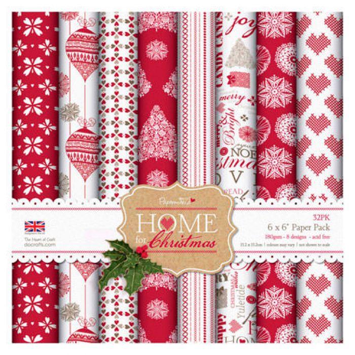 Набор бумаги, коллекция Home For Christmas, 15 х 15 см для скрапбукинга