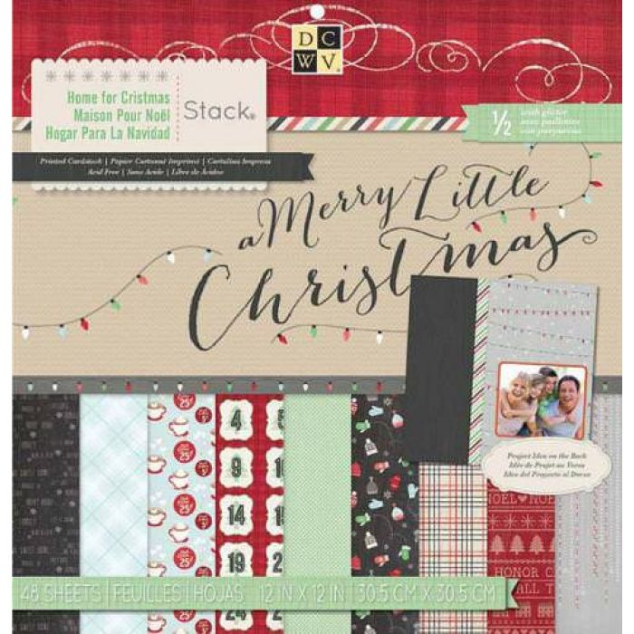 Набор бумаги Home for Christmas для скрапбукинга