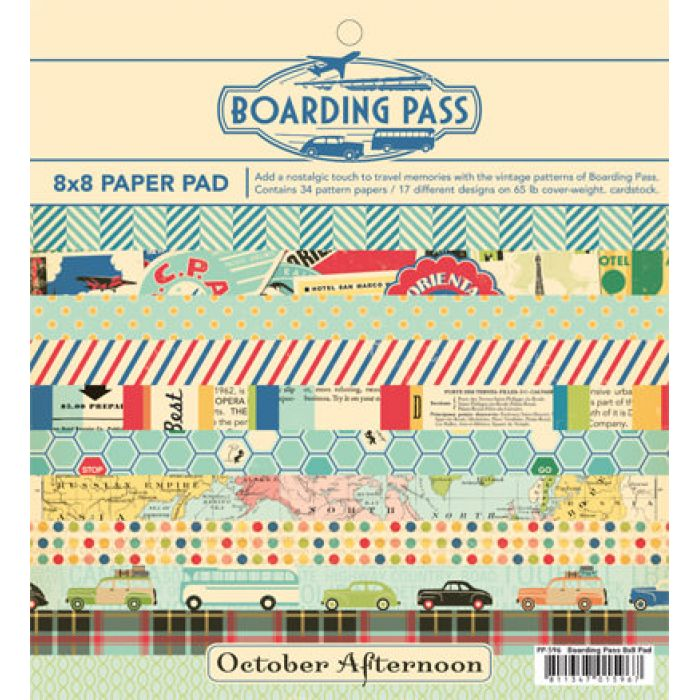 Набор бумаги Boarding Pass, 20 х 20 см для скрапбукинга
