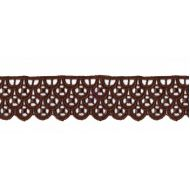 Кружево коричневое, 30 мм